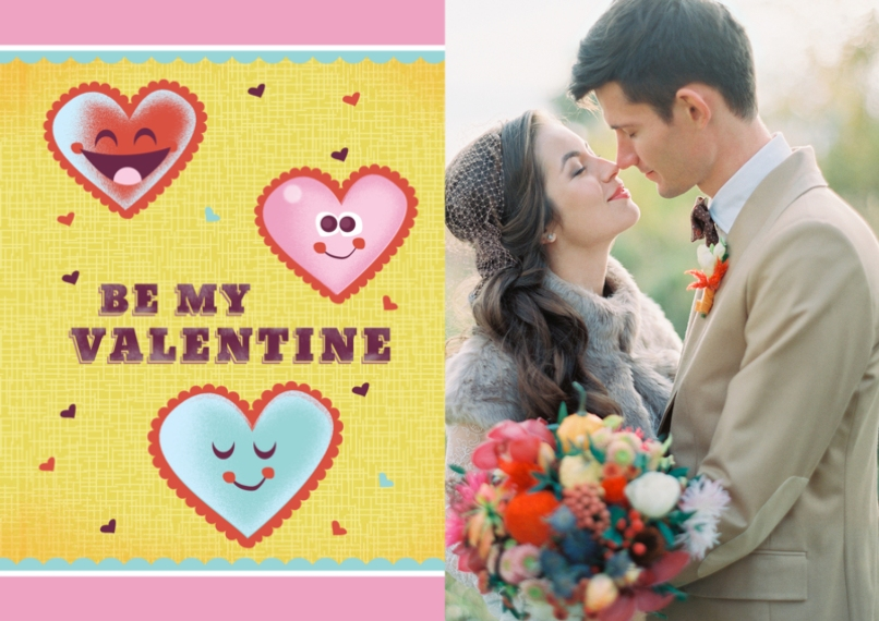 Valentine's Cards 5x7 Cards, Premium Cardstock 120lb with Rounded Corners, Card & Stationery -Be My Valentine