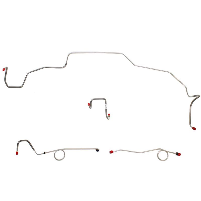Fine Lines RKT6703OM Front Brake Line Kit For 67 Mopar B-Body Standard Brakes w/ Right-Front Line Attaches to Inner Fender and Routes Over Frame Front