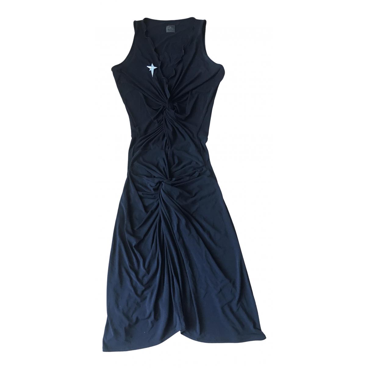 Thierry Mugler \N Kleid in  Schwarz Viskose