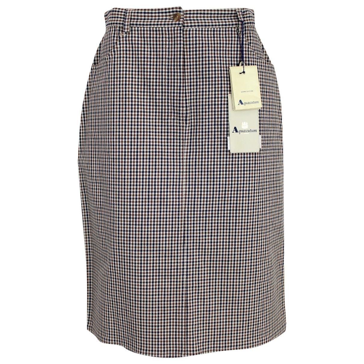 Aquascutum \N Blue Cotton skirt for Women 44 IT