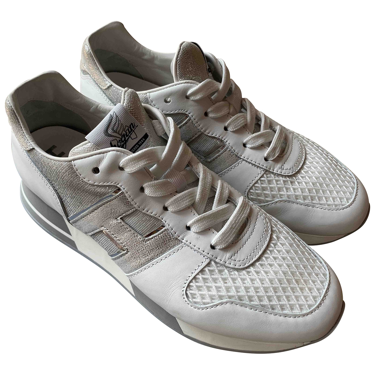 Hogan \N White Leather Trainers for Women 40 IT