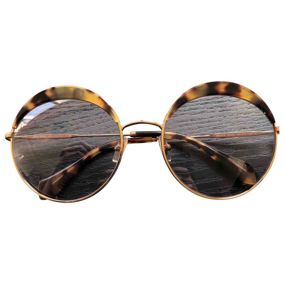 Miu Miu \N Sonnenbrillen in  Braun Metall