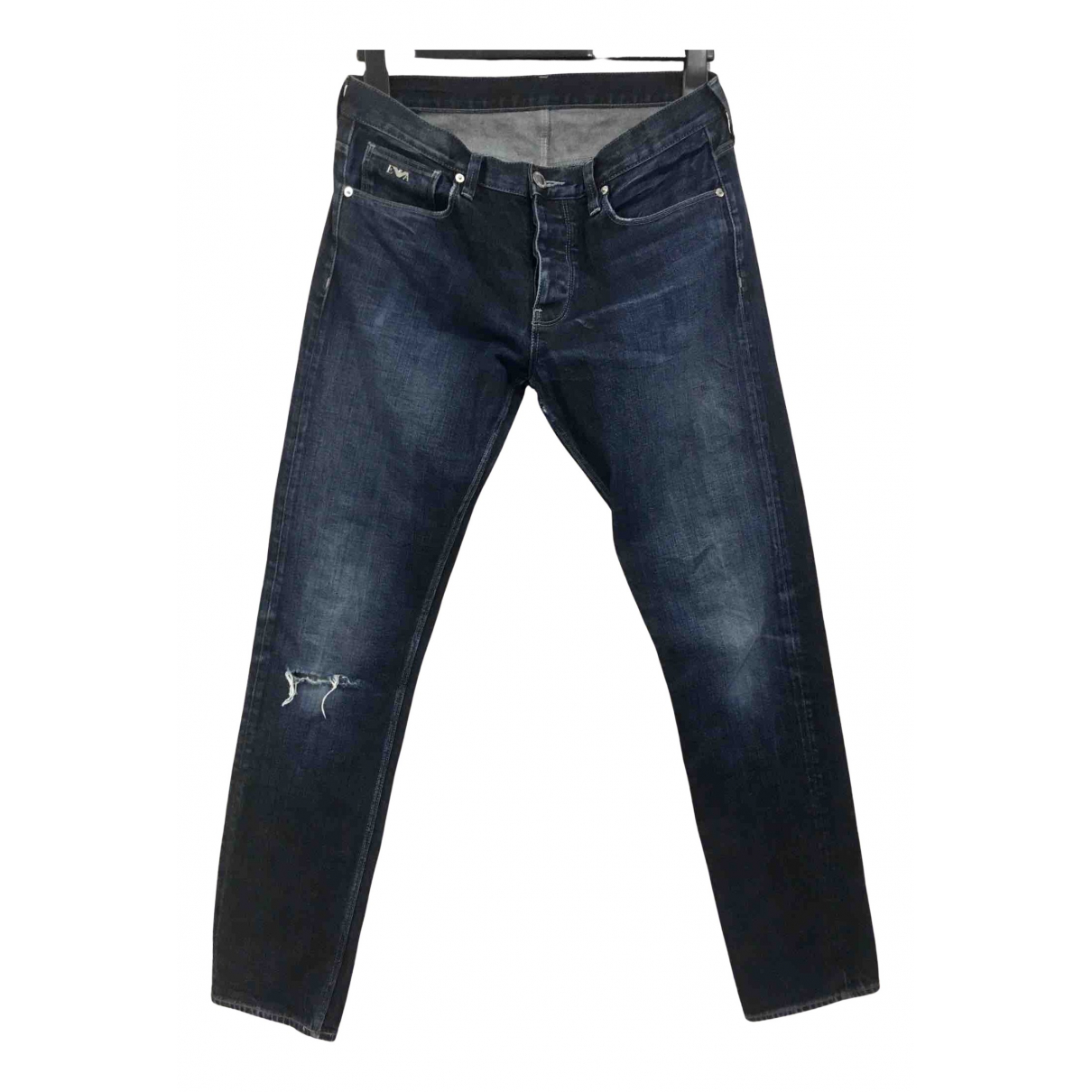 Emporio Armani N Blue Cotton - elasthane Jeans for Men 32 US