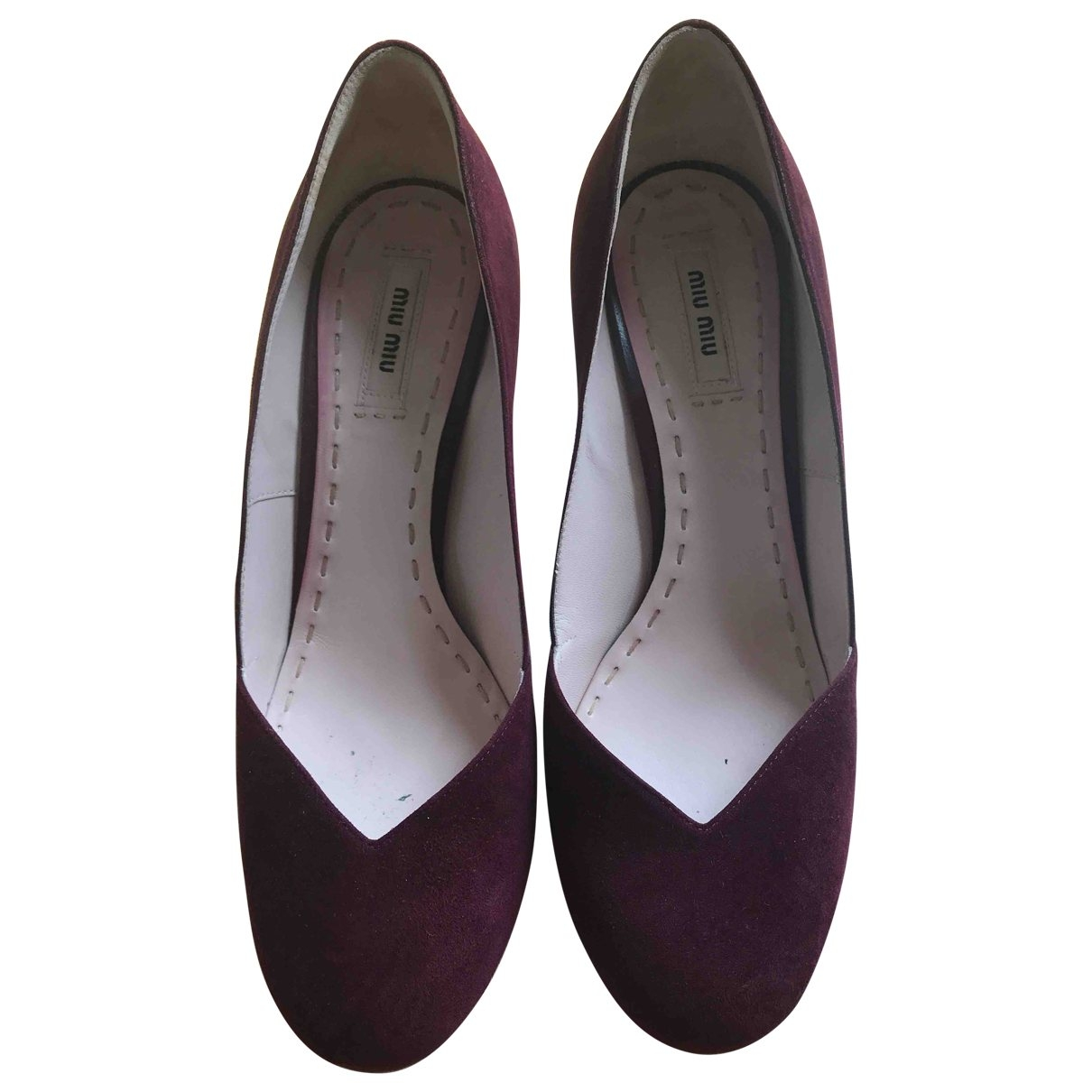 Miu Miu \N Burgundy Suede Heels for Women 40 EU