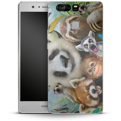 Huawei P9 Silikon Handyhuelle - Zoo Selfie von Howard Robinson