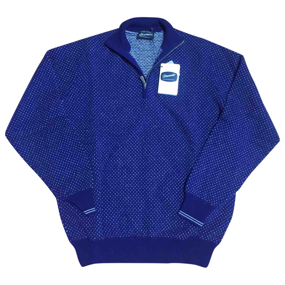 Drumohr - Pulls.Gilets.Sweats   pour homme en cachemire - bleu