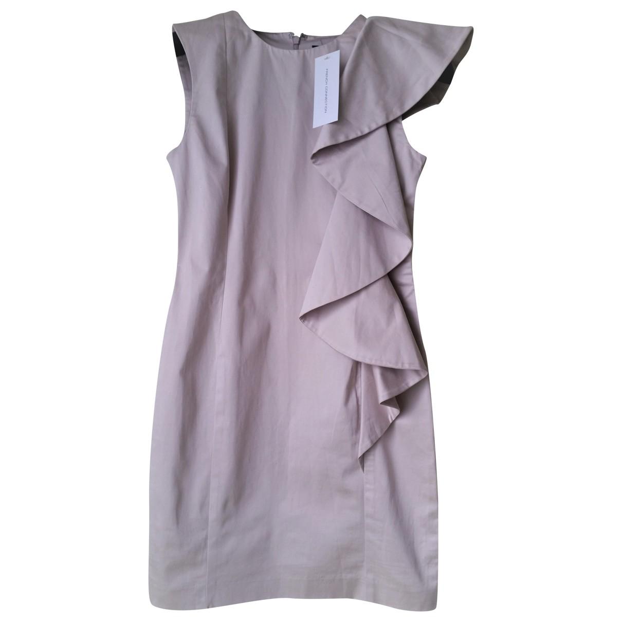 French Connection \N Kleid in  Beige Baumwolle