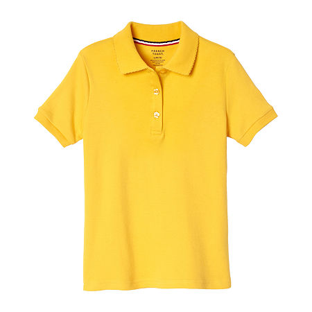 French Toast Big Girls Short Sleeve Polo Shirt, Xx-large , Yellow