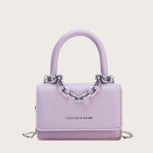 Bolsa cartera mini con cadena