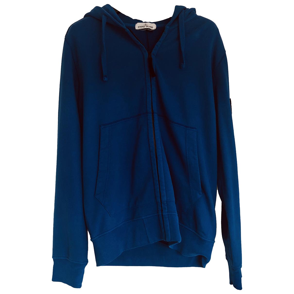 Stone Island \N Pullover.Westen.Sweatshirts  in  Blau Baumwolle