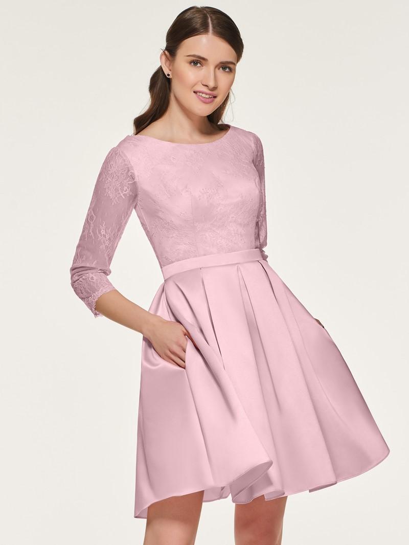 Ericdress A Line Lace Short Bridesmaid Dress