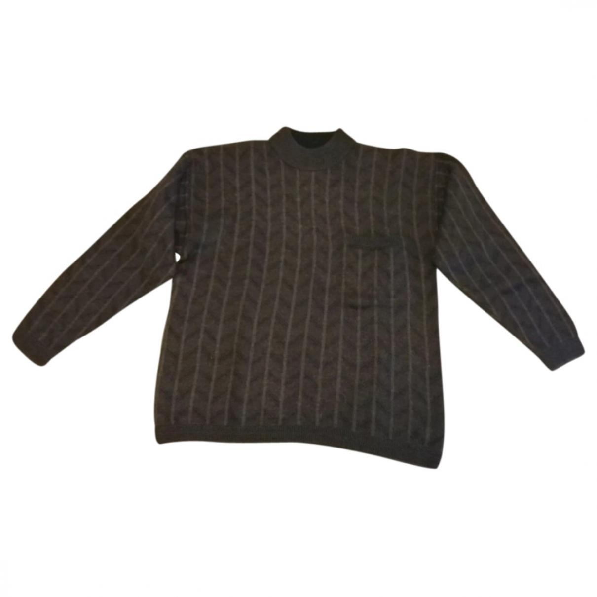 Roberto Cavalli \N Pullover.Westen.Sweatshirts  in  Braun Wolle