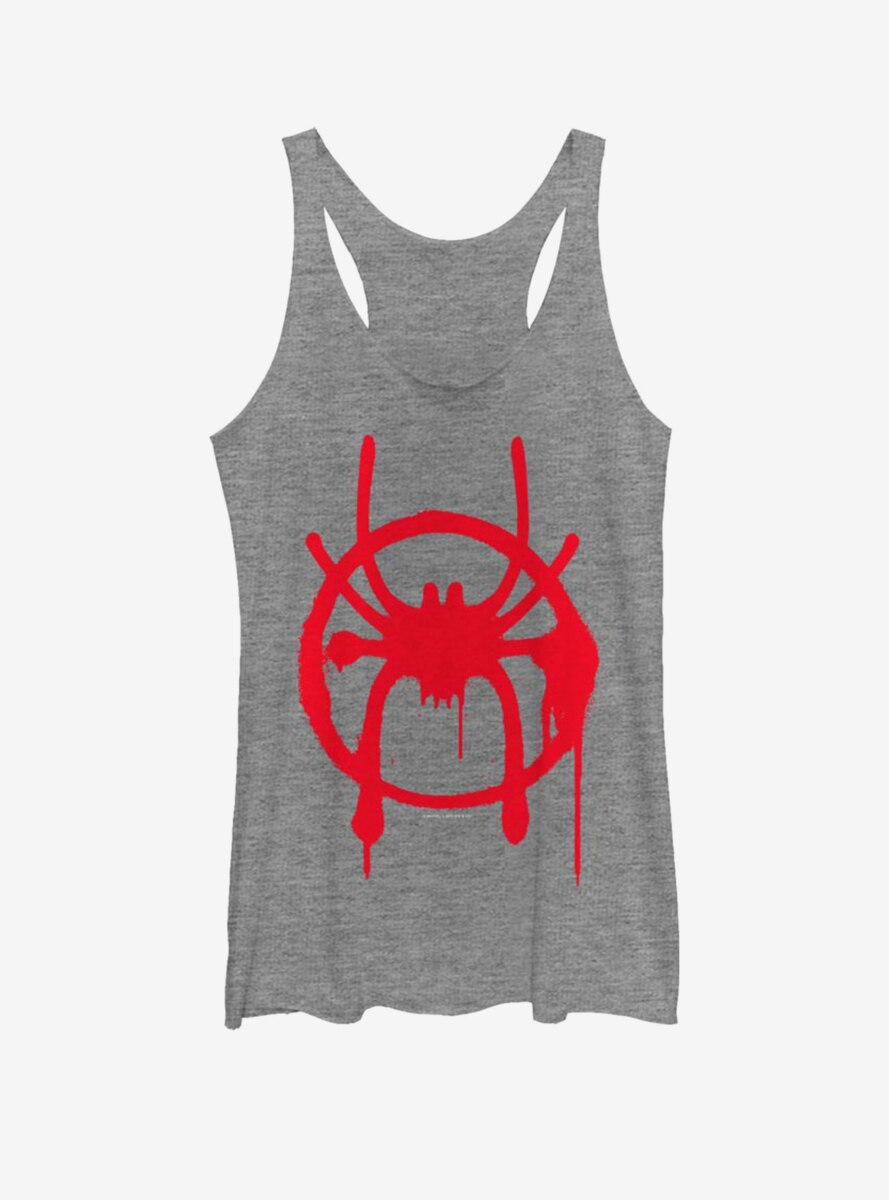 Marvel Spider-Man : Into The Spiderverse Miles Symbol Womens Tank Top