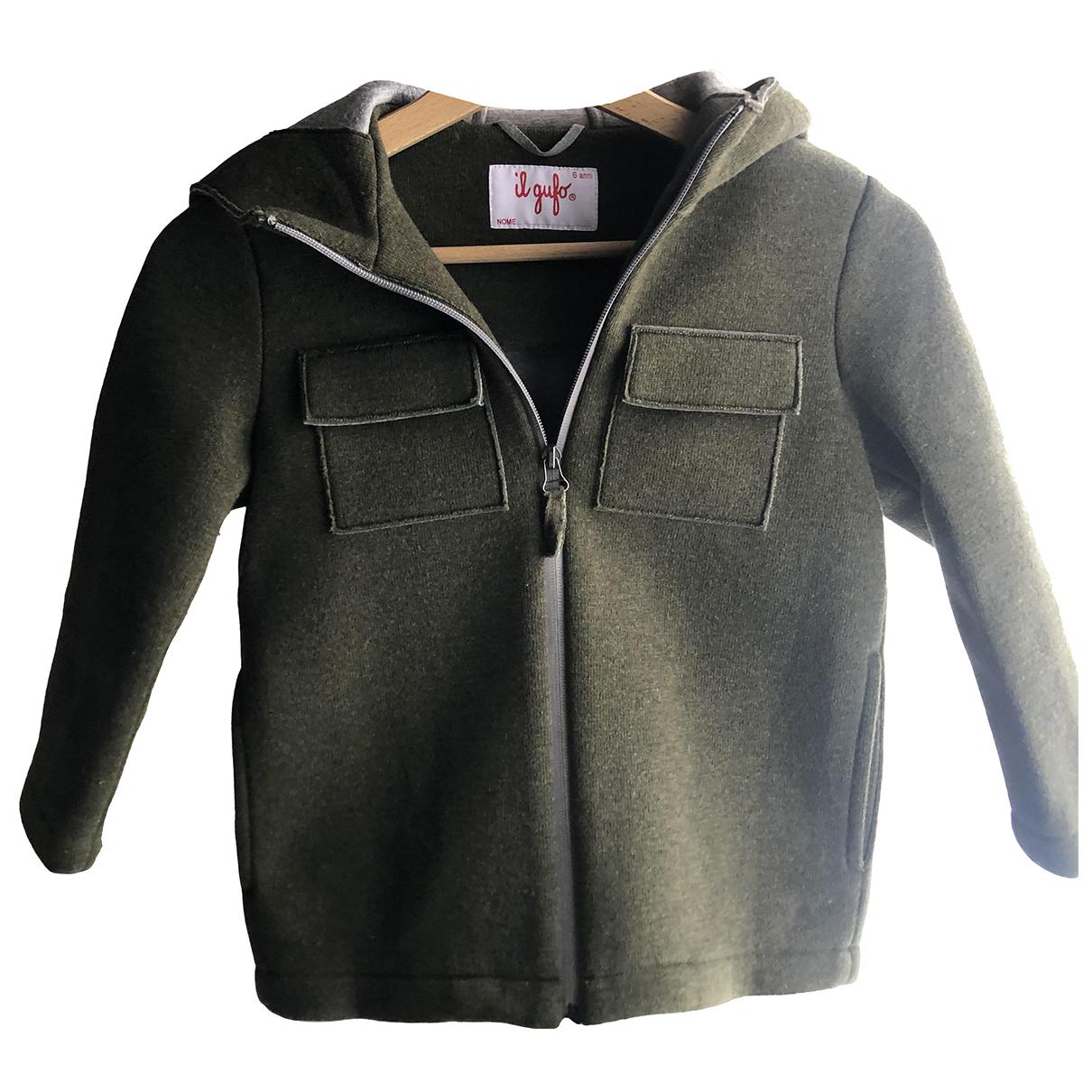 Il Gufo - Blousons.Manteaux   pour enfant en laine - vert