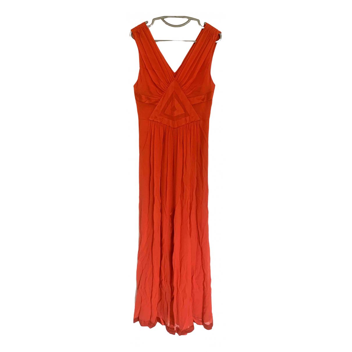 Diane Von Furstenberg \N Kleid in  Orange Seide