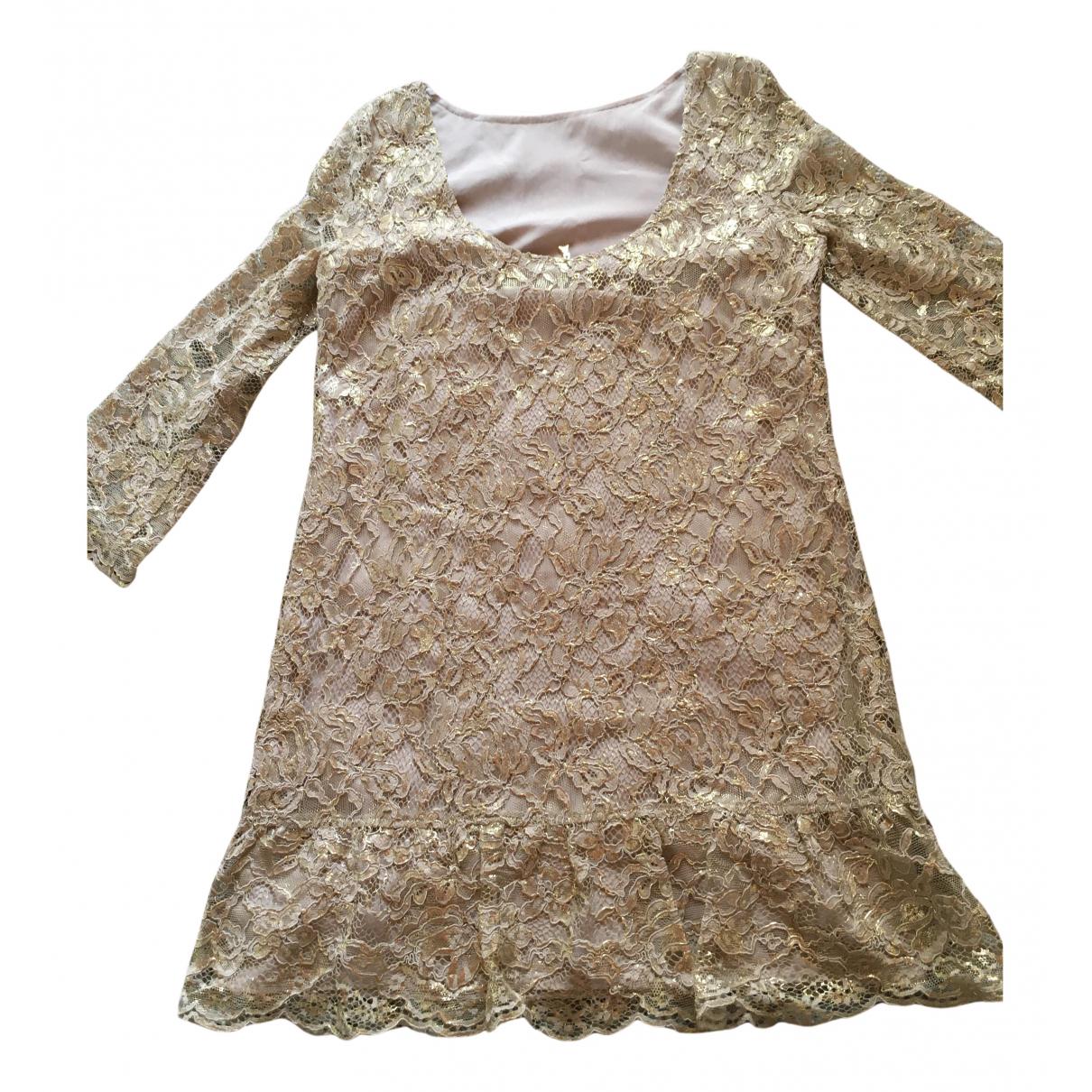 Patrizia Pepe \N Kleid in  Gold Spitze