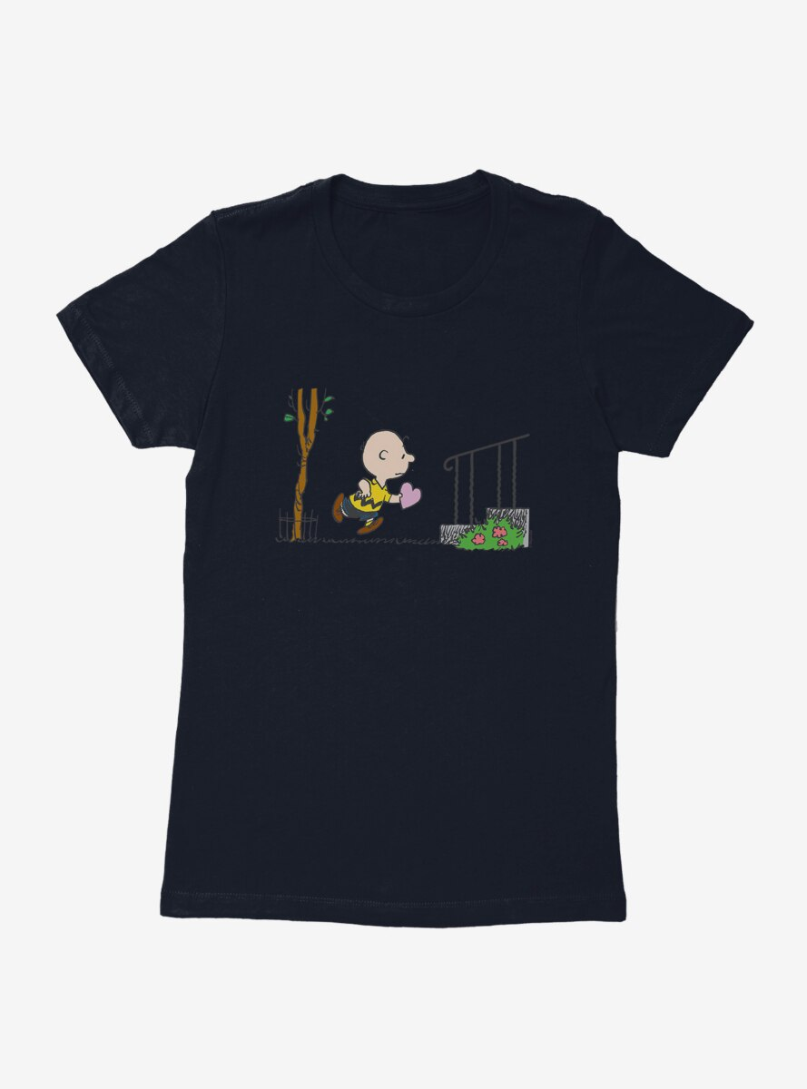 Peanuts Charlie Brown Valentine Delivery Womens T-Shirt
