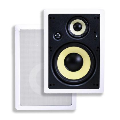 Haut-parleurs encastrables fibre de calibre 8 à 3 voies (paire) - Monoprice®