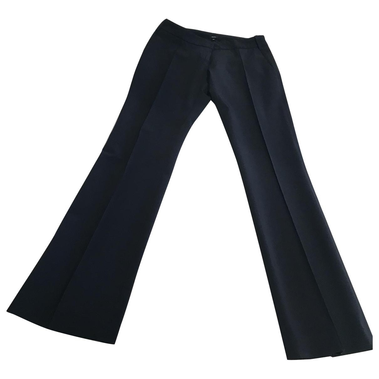 Elisabetta Franchi \N Black Spandex Trousers for Women 42 IT