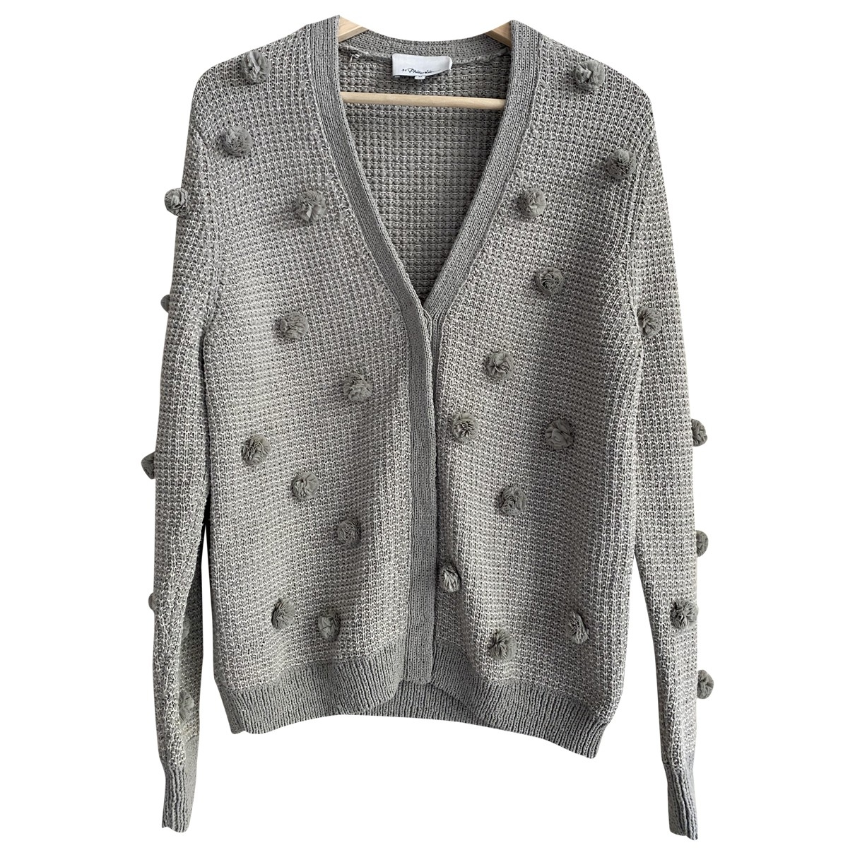 3.1 Phillip Lim - Pull   pour femme en coton - gris