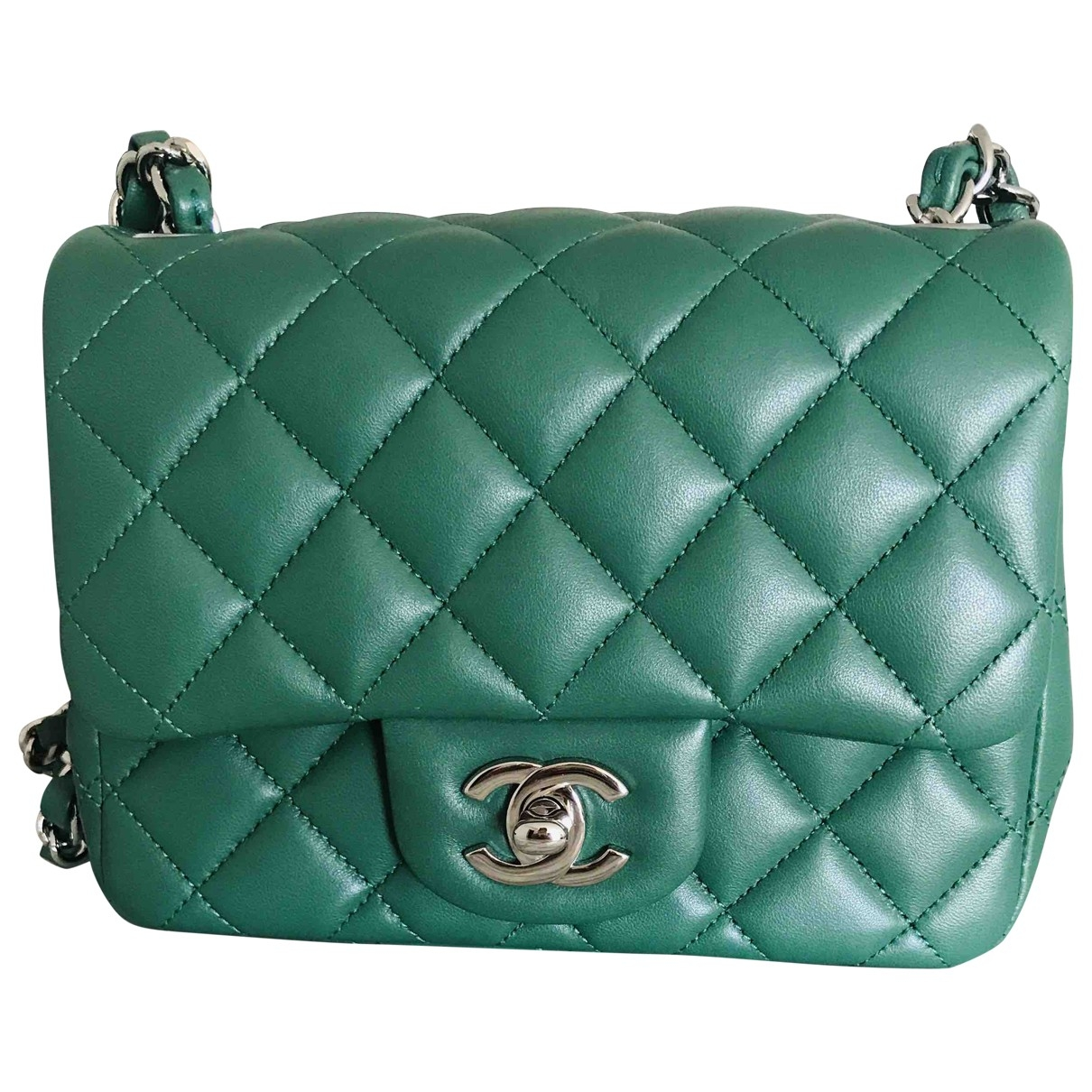 Chanel Timeless/Classique Green Leather handbag for Women \N
