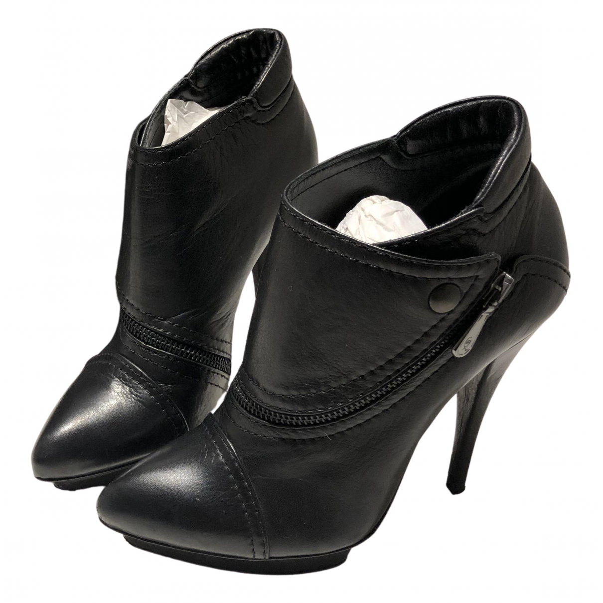 Mcq - Bottes   pour femme en cuir - noir