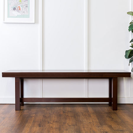 Wood Kichen Dining Bench, One Size , Brown