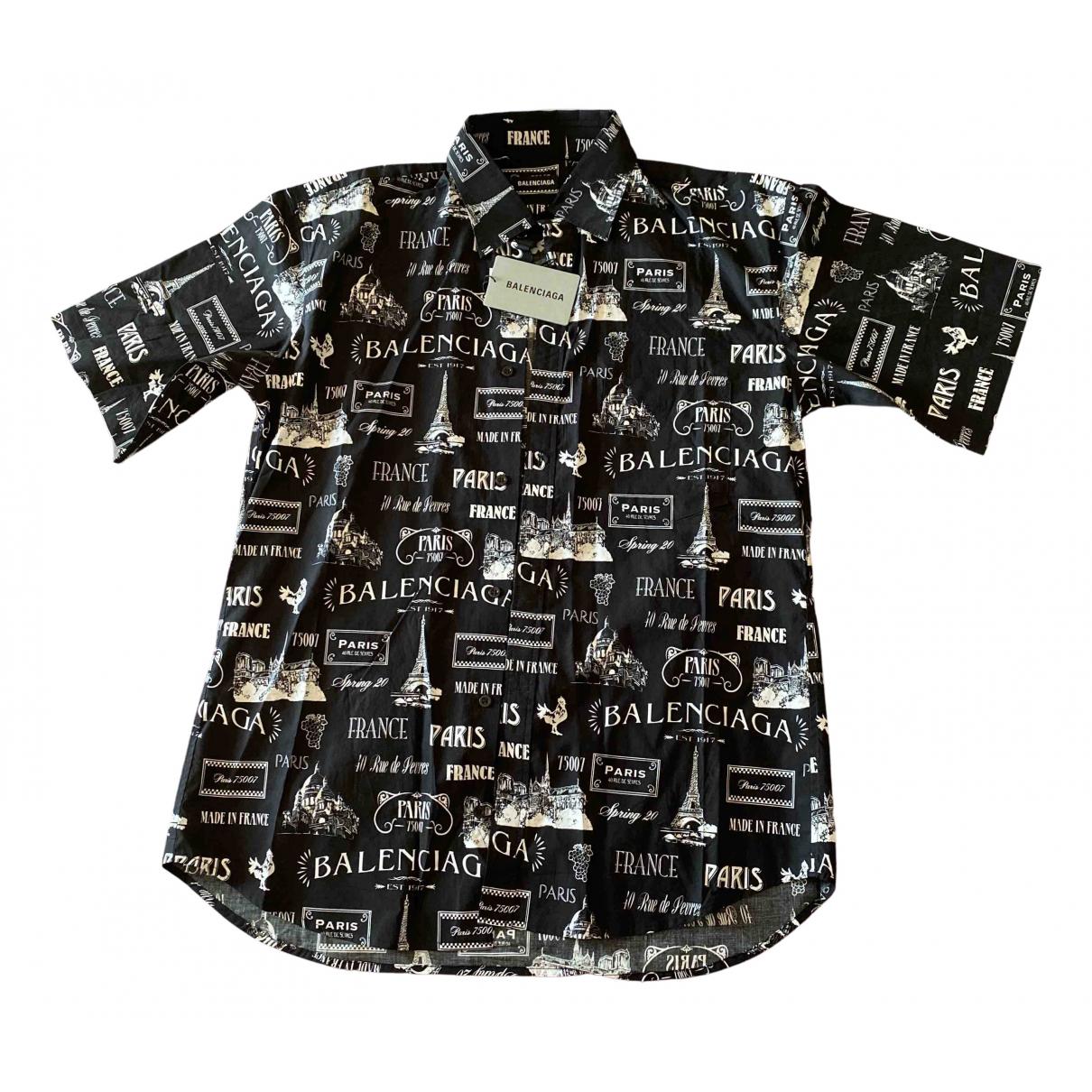 Balenciaga N Black Cotton Shirts for Men L International