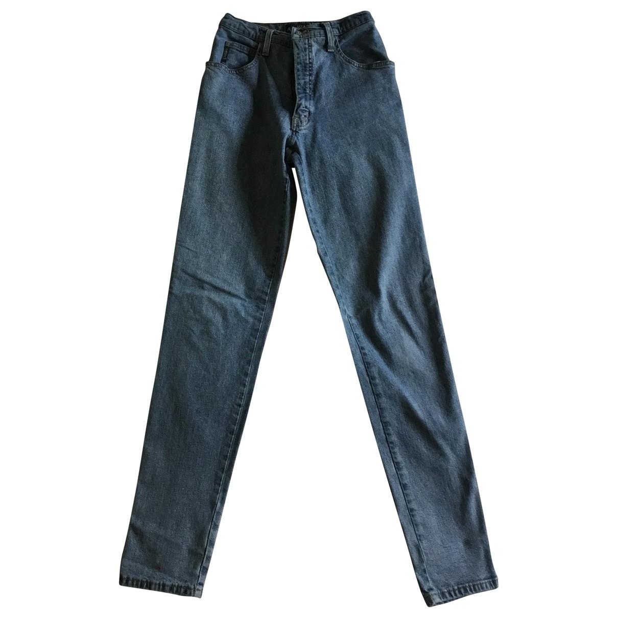 Armani Jeans \N Blue Cotton Jeans for Women 26 US