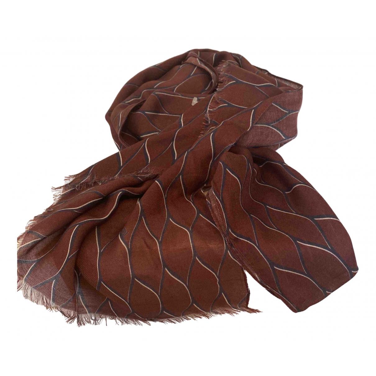 Kenzo - Foulard   pour femme en soie - bordeaux
