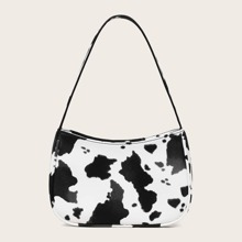 Cow Pattern Baguette Bag