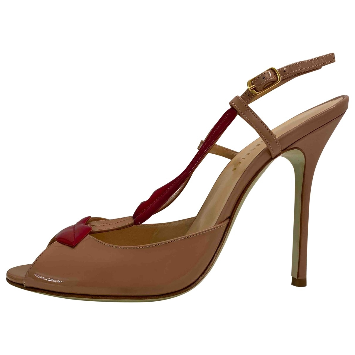 Giannico - Sandales   pour femme en cuir - beige
