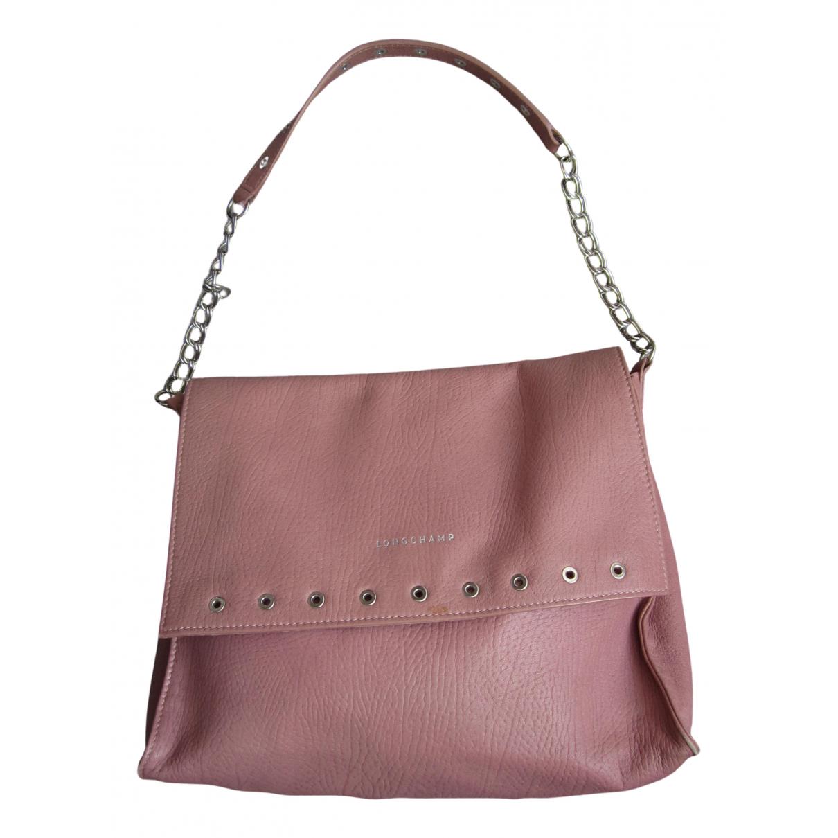 Longchamp - Sac a main   pour femme en cuir - rose