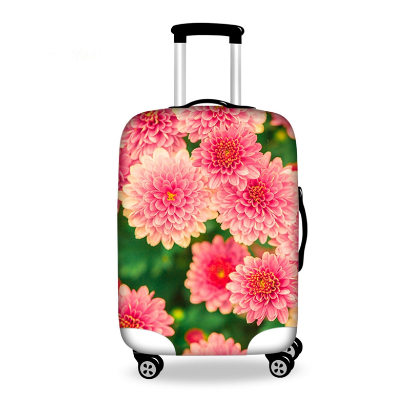Super Pretty Flowers Pattern 3D Painted Luggage Cover