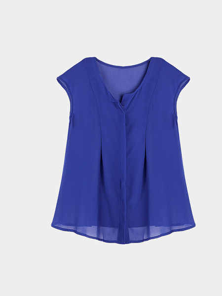 Yoins Sleeveless Top In Blue