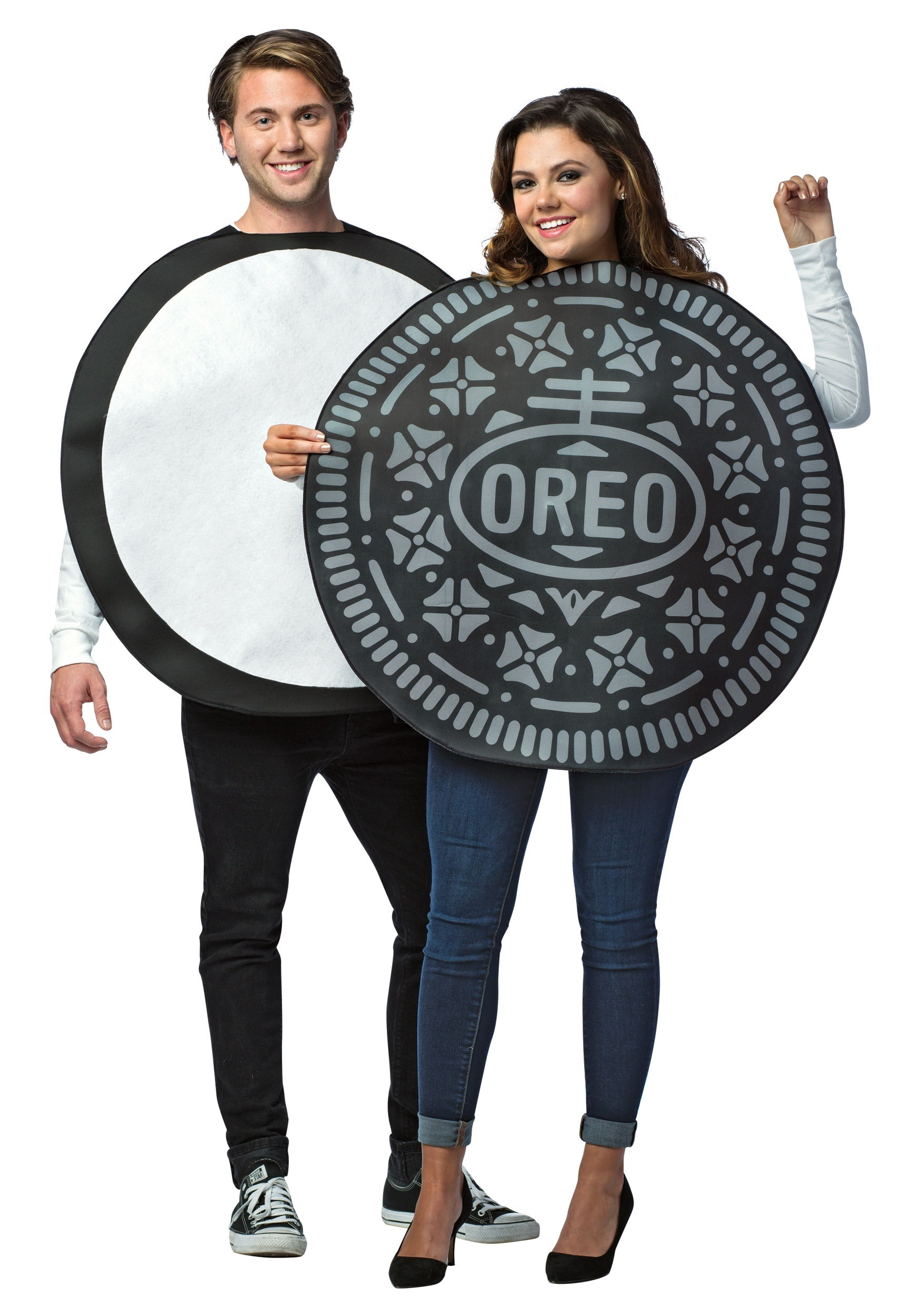 Adult Oreo Cookie Costume for Couples