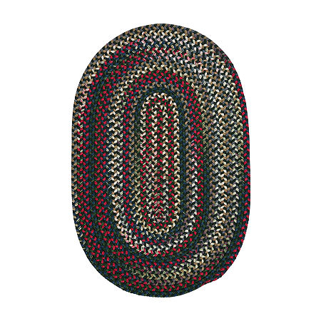 Colonial Mills American Pride Braided Oval Reversible Indoor Rugs, One Size , Green