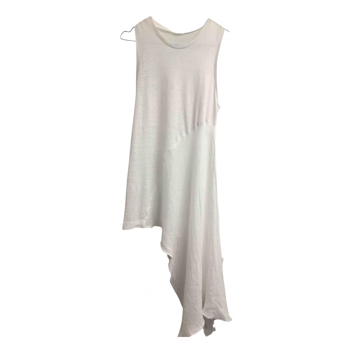 100% Capri N White Linen  top for Women XS International