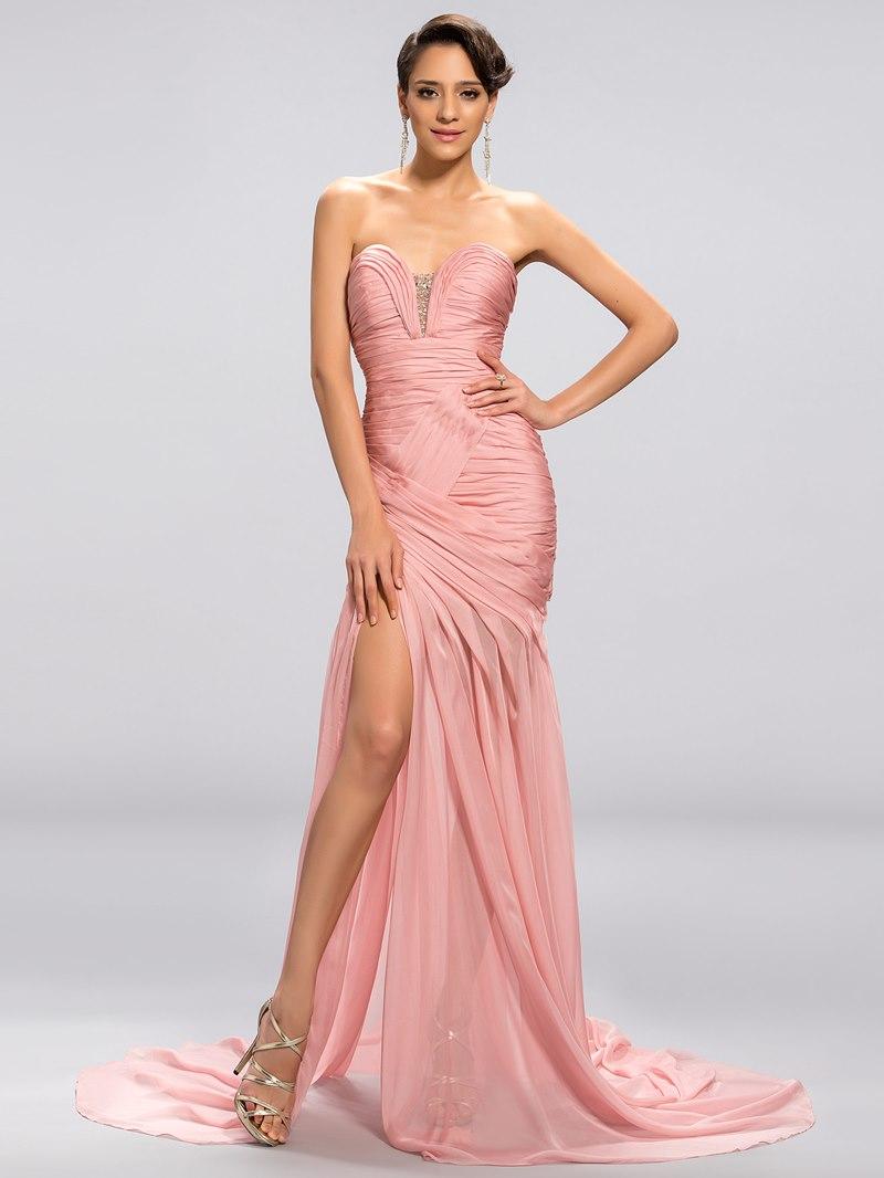 Strapless Sweetheart Mermaid Trumpet Evening Dress