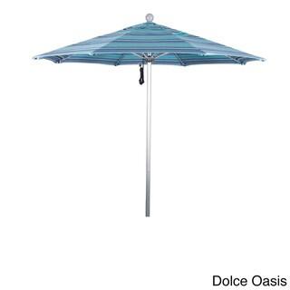 California Umbrella 7.5' Rd. Aluminum Frame, Fiberglass Rib Market Umbrella, Push Open,Anodized Silver Finish, Sunbrella Fabric (Dolce Oasis)