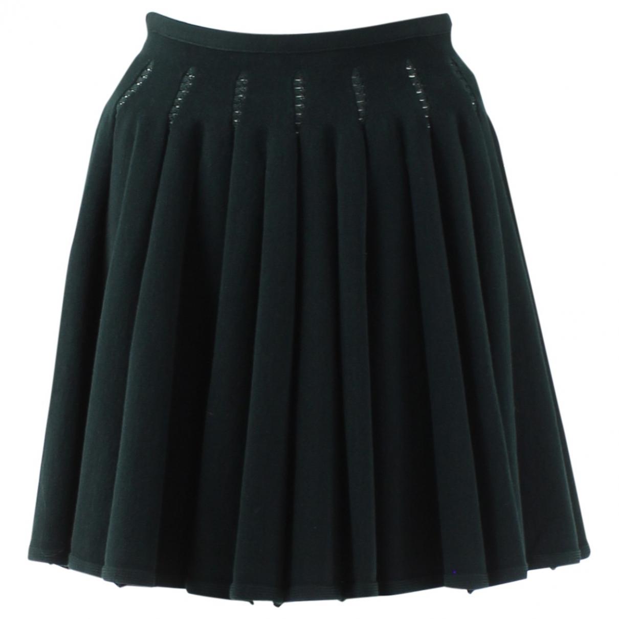 Alaïa \N Green Wool skirt for Women 38 FR