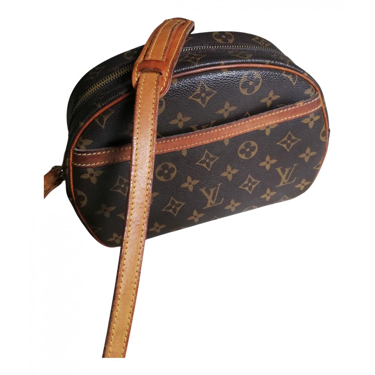 Louis Vuitton Blois  Handtasche in  Braun Leinen