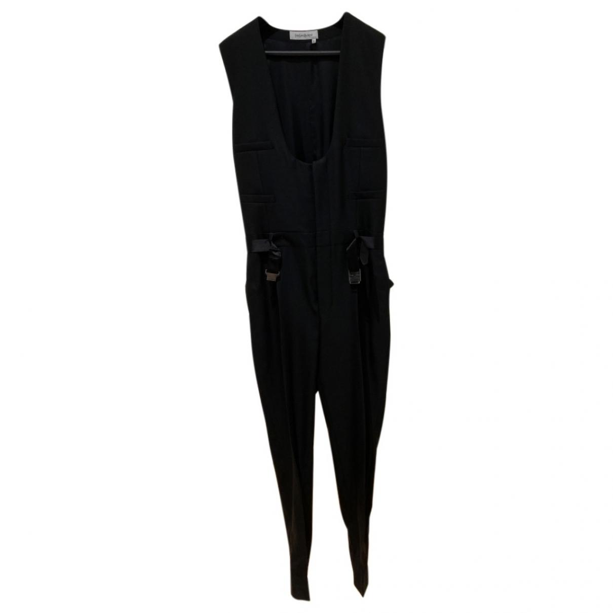 Yves Saint Laurent \N Black Wool Trousers for Men 46 IT