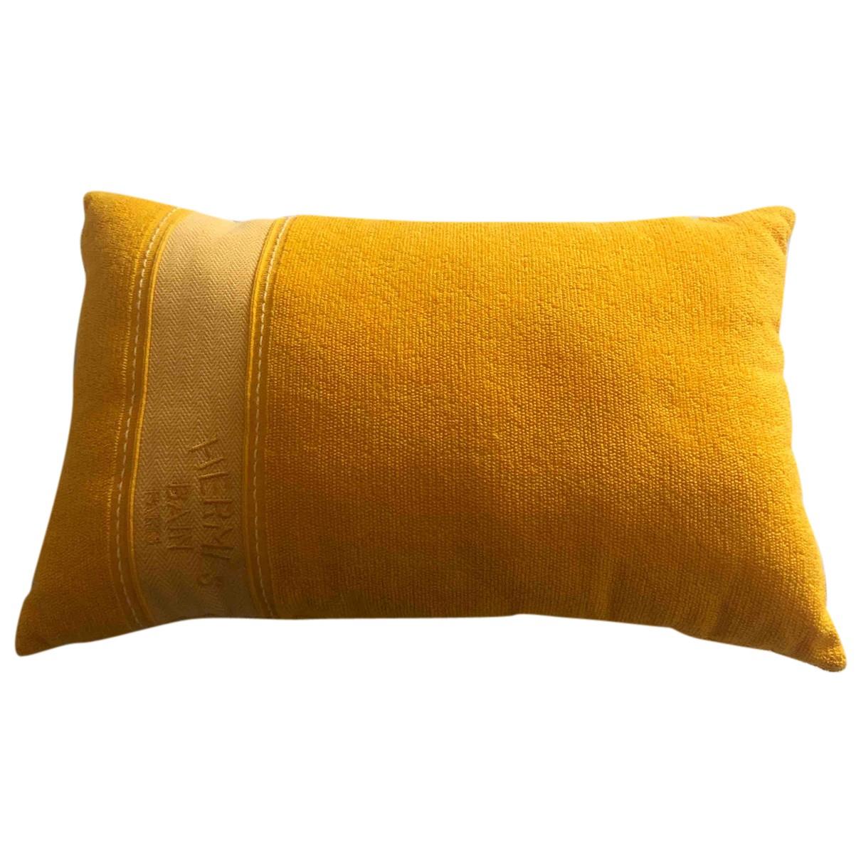 Hermes \N Heimtextilien in  Gelb Baumwolle