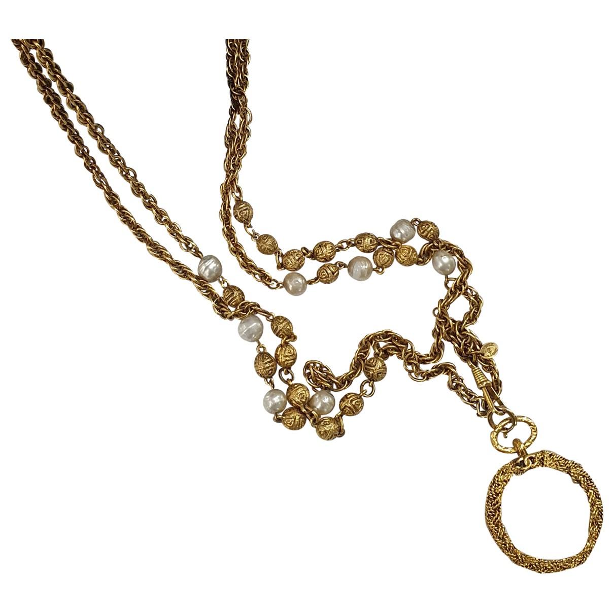 Chanel - Sautoir CHANEL pour femme en plaque or - dore