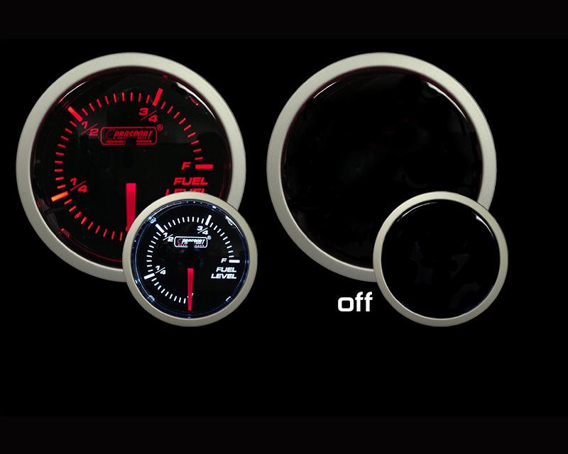 Prosport Performance Fuel Level Gauge Electrical Amber | White 52mm