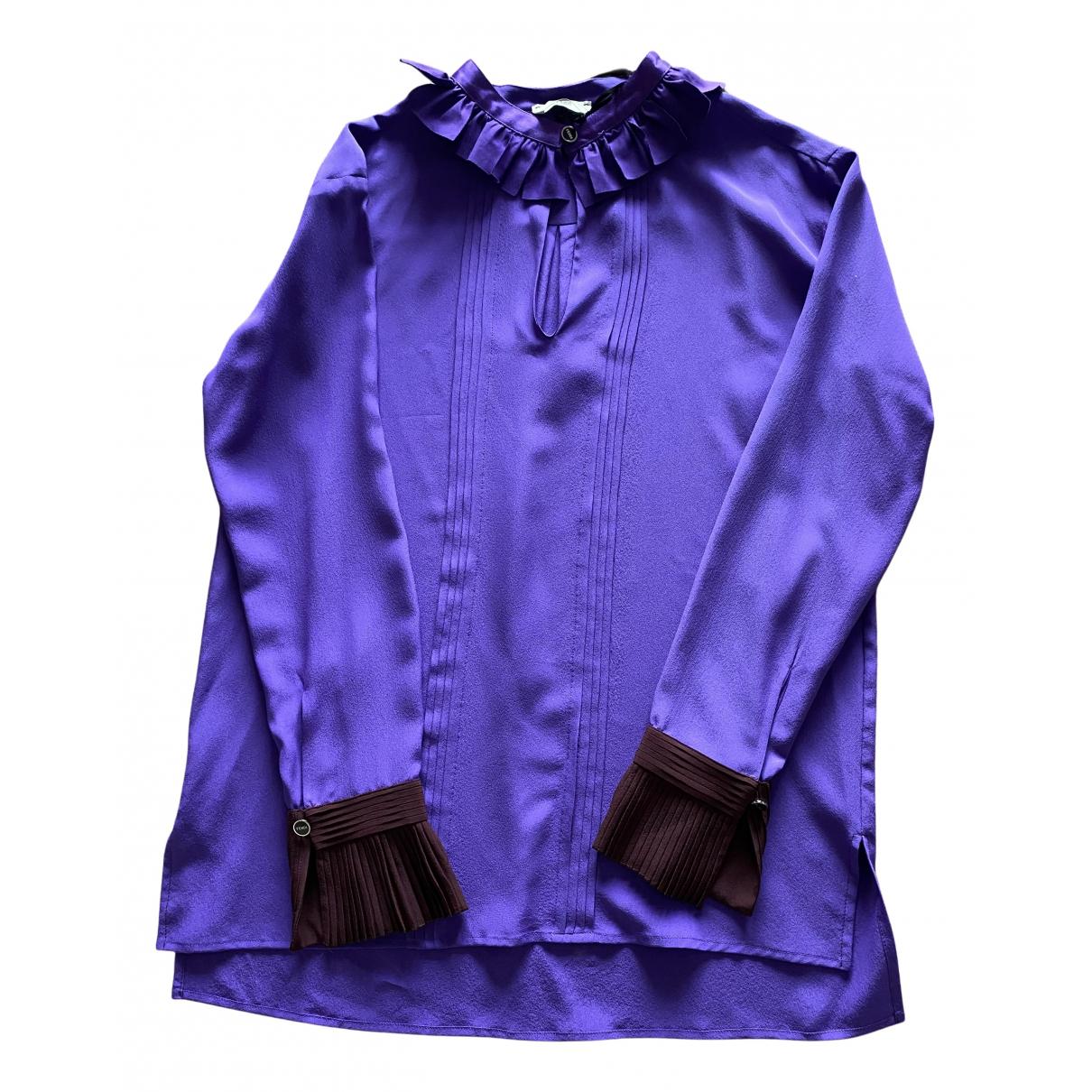 Fendi N Purple Tweed  top for Women 40 IT