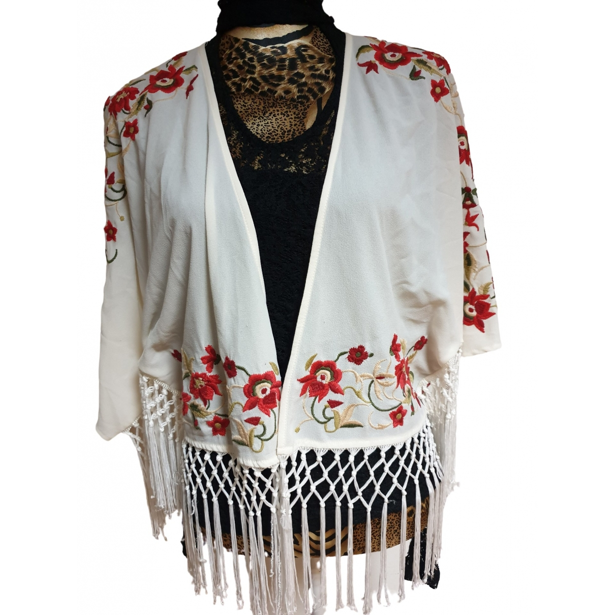 Non Signé / Unsigned \N White Knitwear for Women One Size FR
