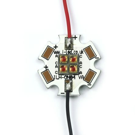 Intelligent LED Solutions ILS ILH-ON04-RED1-SC201-WIR200., OSLON4 PowerStar Circular LED Array, 4 Red LED