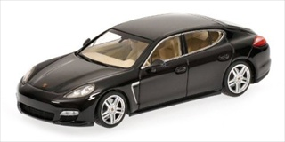 2011 Porsche Panamera Turbo Black Limited Edition 1 of 1008 Produced Worldwide 1/43 Diecast Model Car by Minichamps